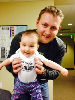 Introducing our youngest and most adorable future engineer, Harper Jason.